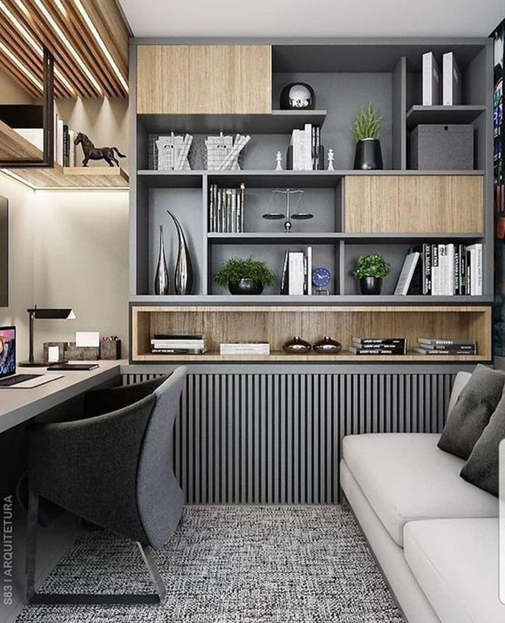 Admirable Modern Home Office Design Ideas That You Like 22
