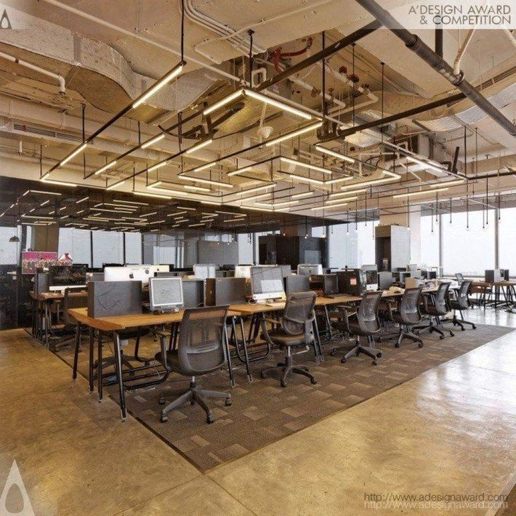 Amazing Open Ceiling Office Design Ideas 22