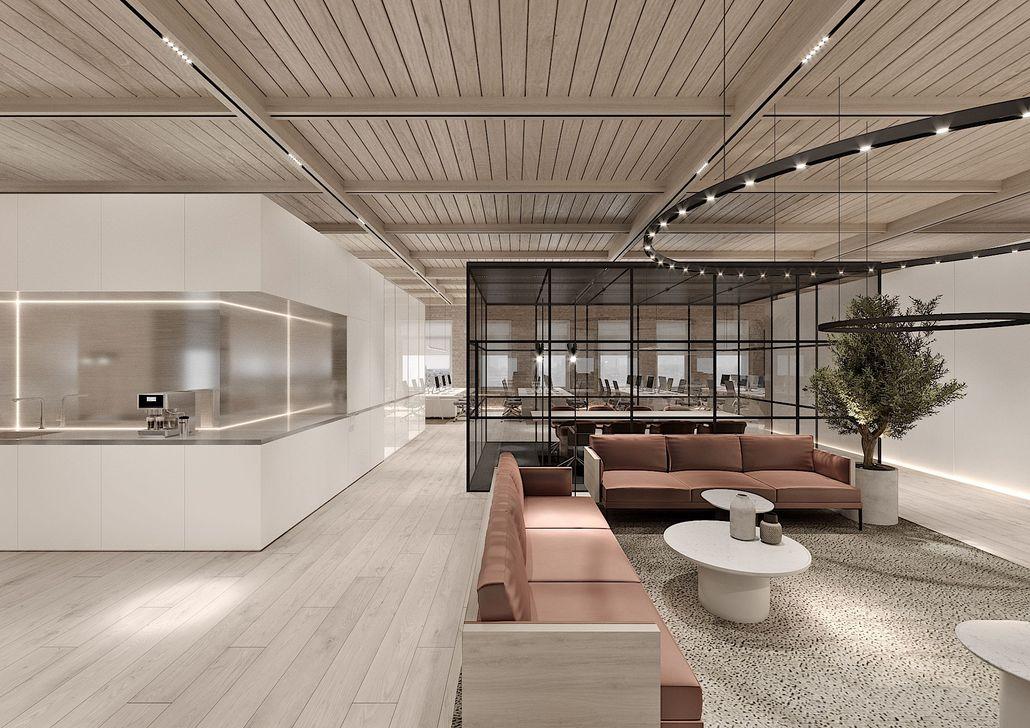 Amazing Open Ceiling Office Design Ideas 26
