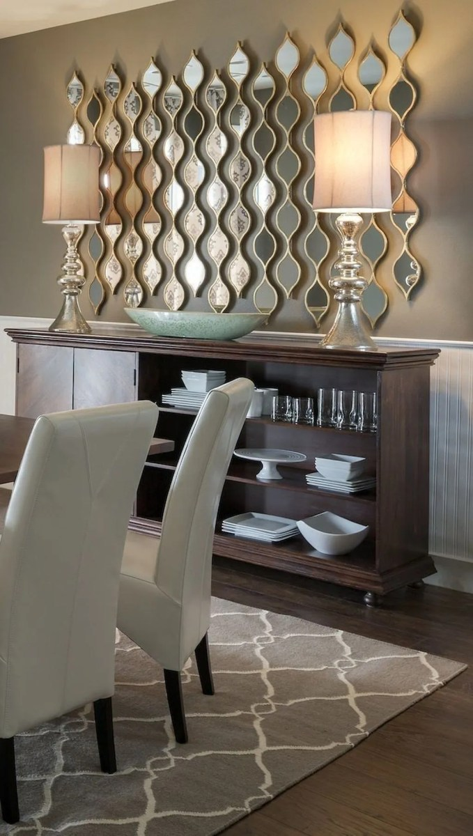 Amazing Wall Mirror Design Ideas For Dining Room Decor 30