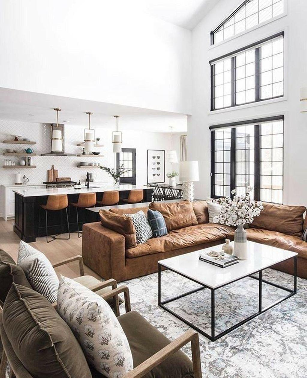 Awesome Leather Sofa Design Ideas 18