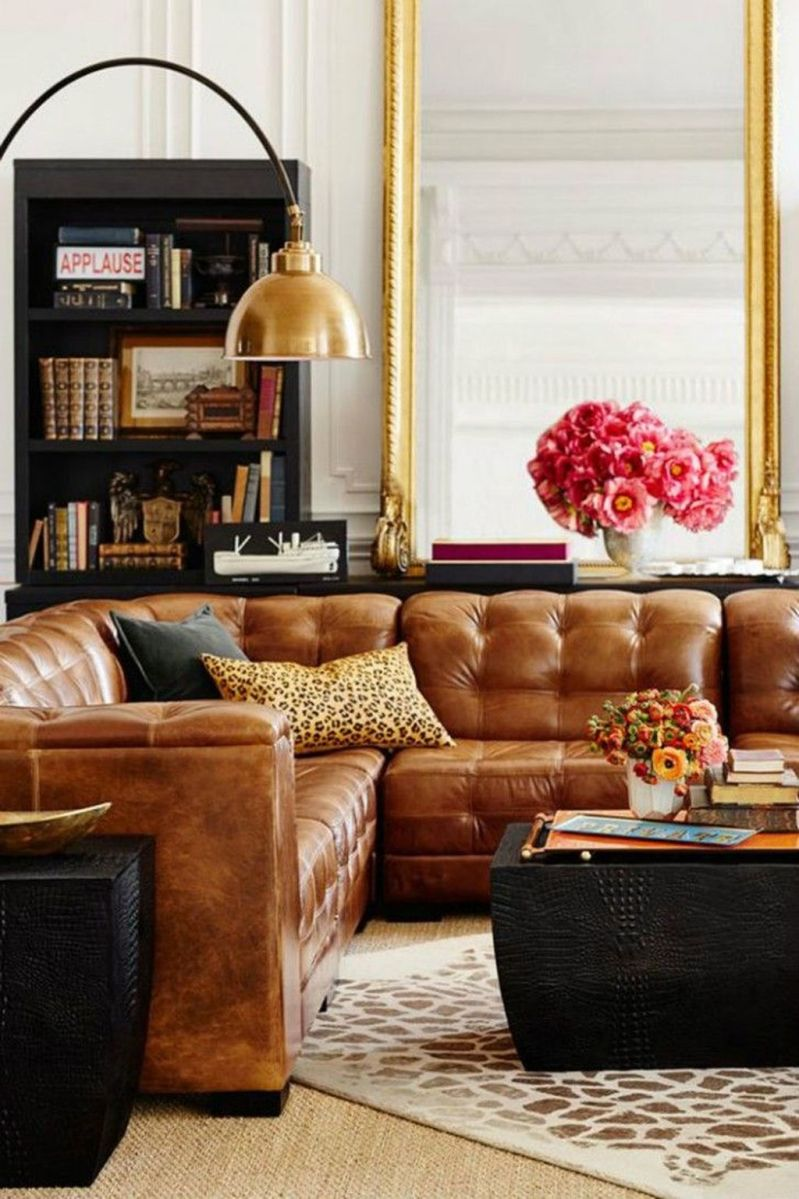 Awesome Leather Sofa Design Ideas 19