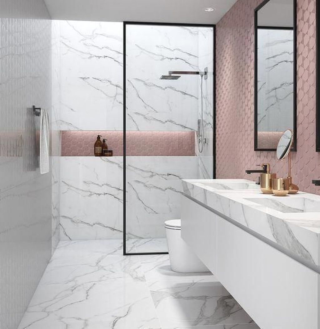 Lovely Bathroom Ceramic Tile Ideas You Should Copy 06