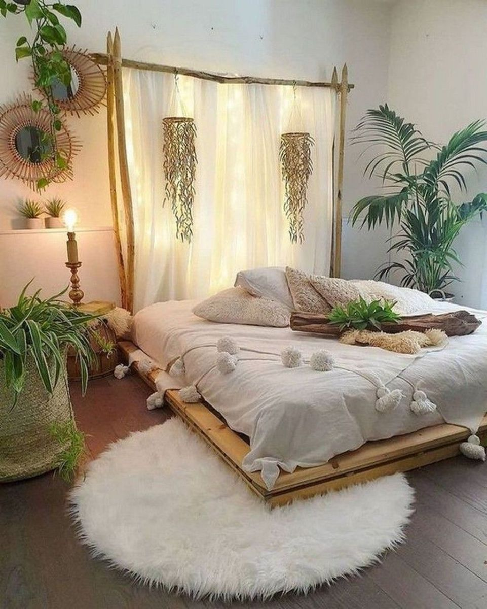 Lovely Bedroom Decor With Plant Ideas 33