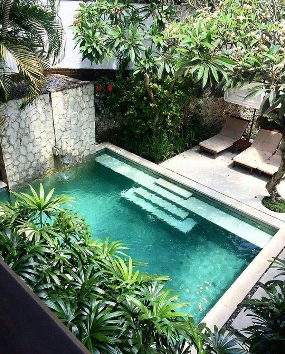 Lovely Swimming Pool Garden Ideas To Get Natural Accent 01