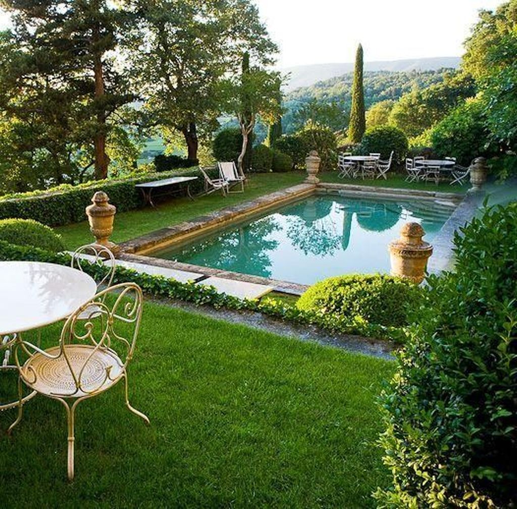 Lovely Swimming Pool Garden Ideas To Get Natural Accent 05