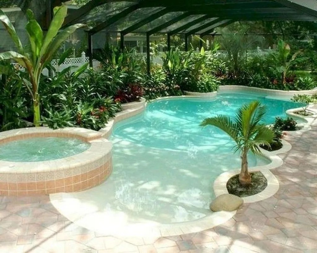 Lovely Swimming Pool Garden Ideas To Get Natural Accent 08