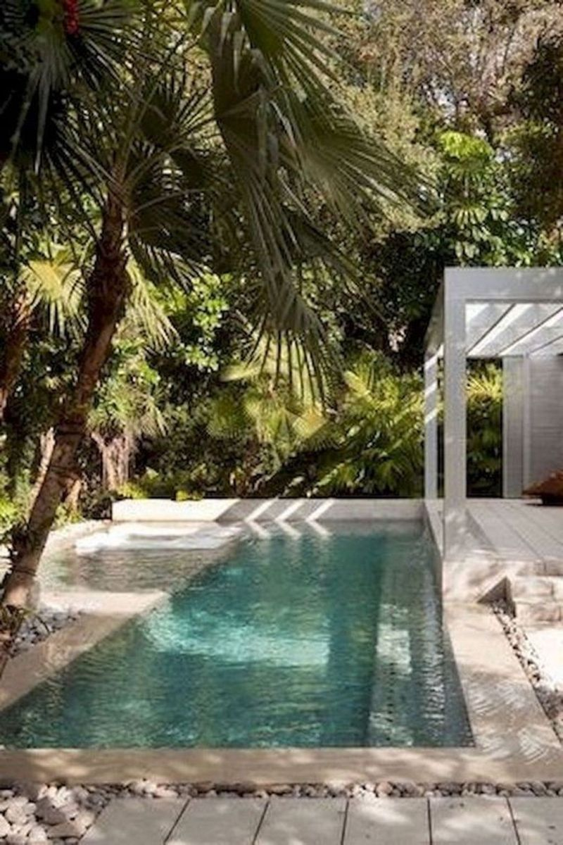 Lovely Swimming Pool Garden Ideas To Get Natural Accent 23