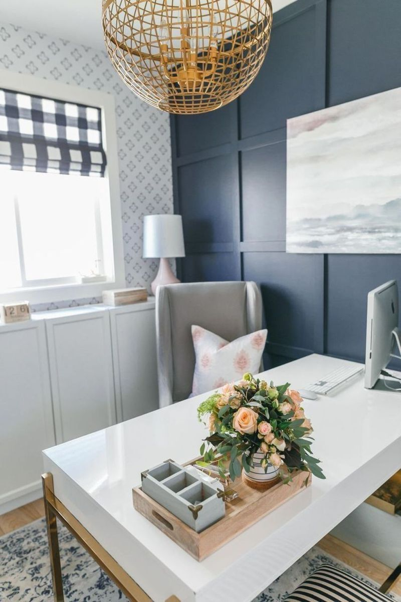 Nice Small Home Office Design Ideas 13