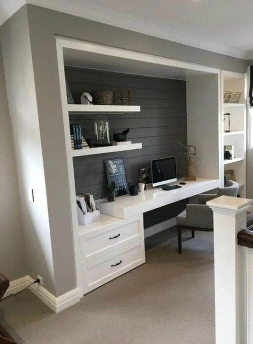 Nice Small Home Office Design Ideas 18