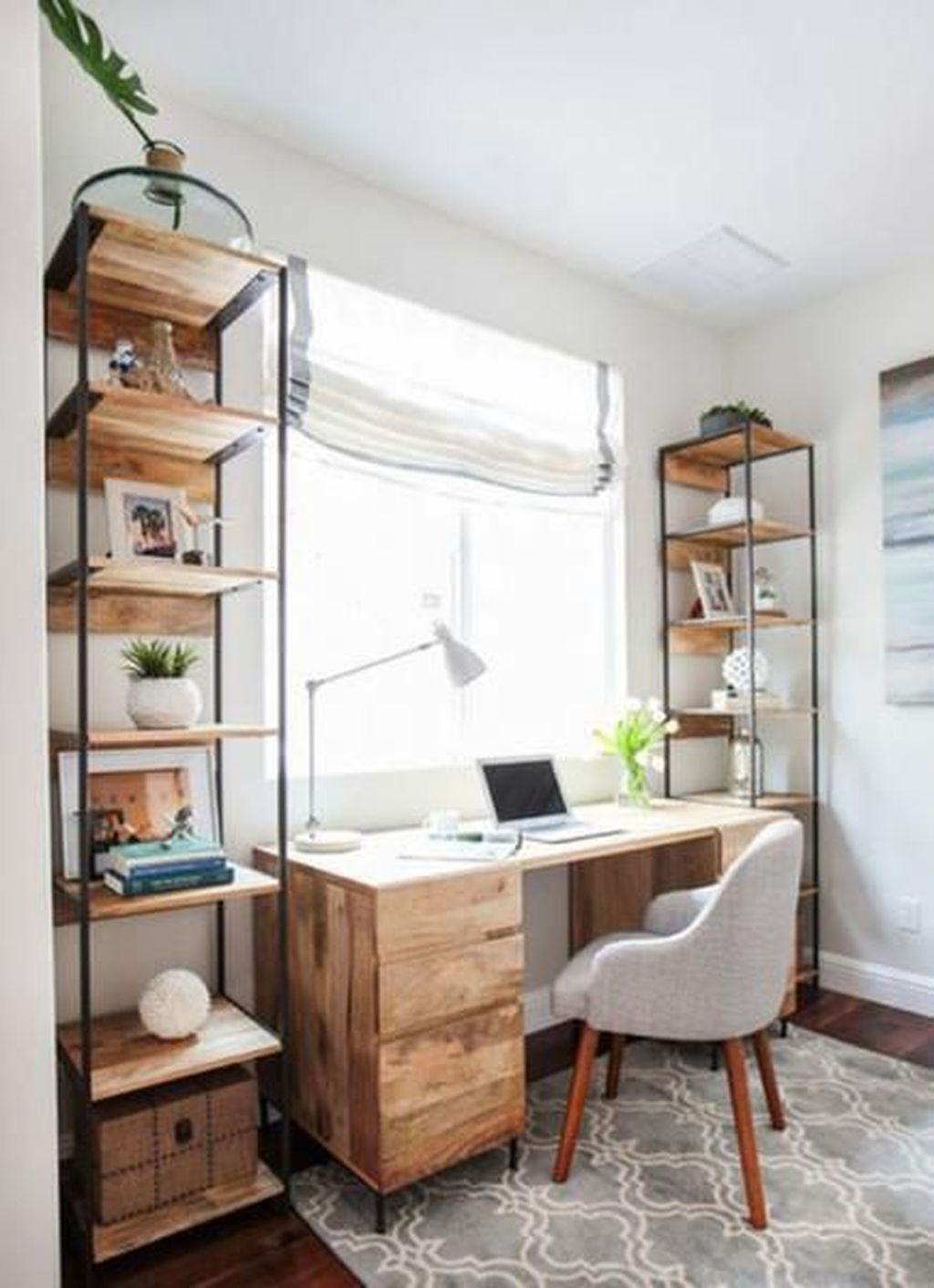 Nice Small Home Office Design Ideas 19