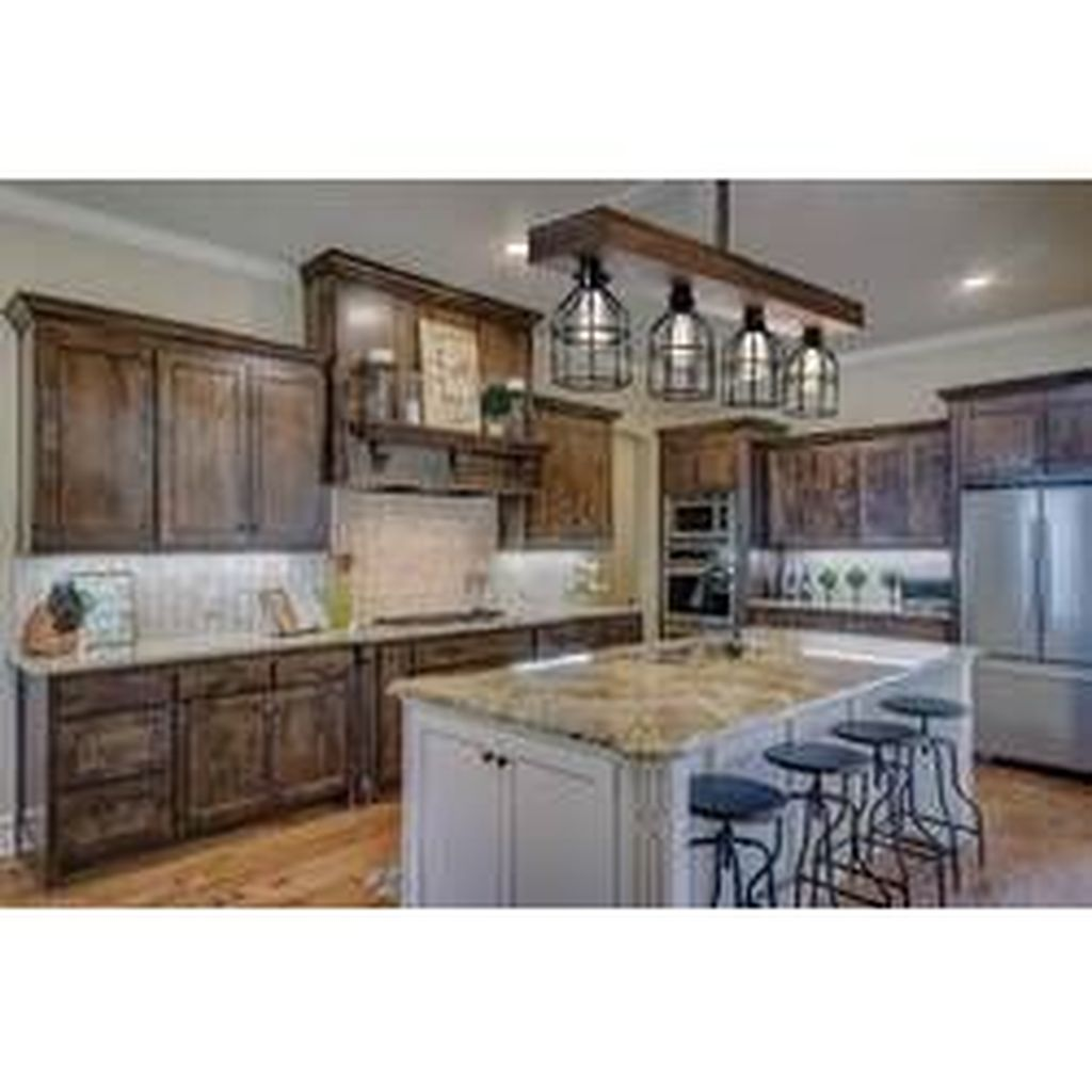 Popular Wooden Cabinets Design Ideas For Your Kitchen Decor 07