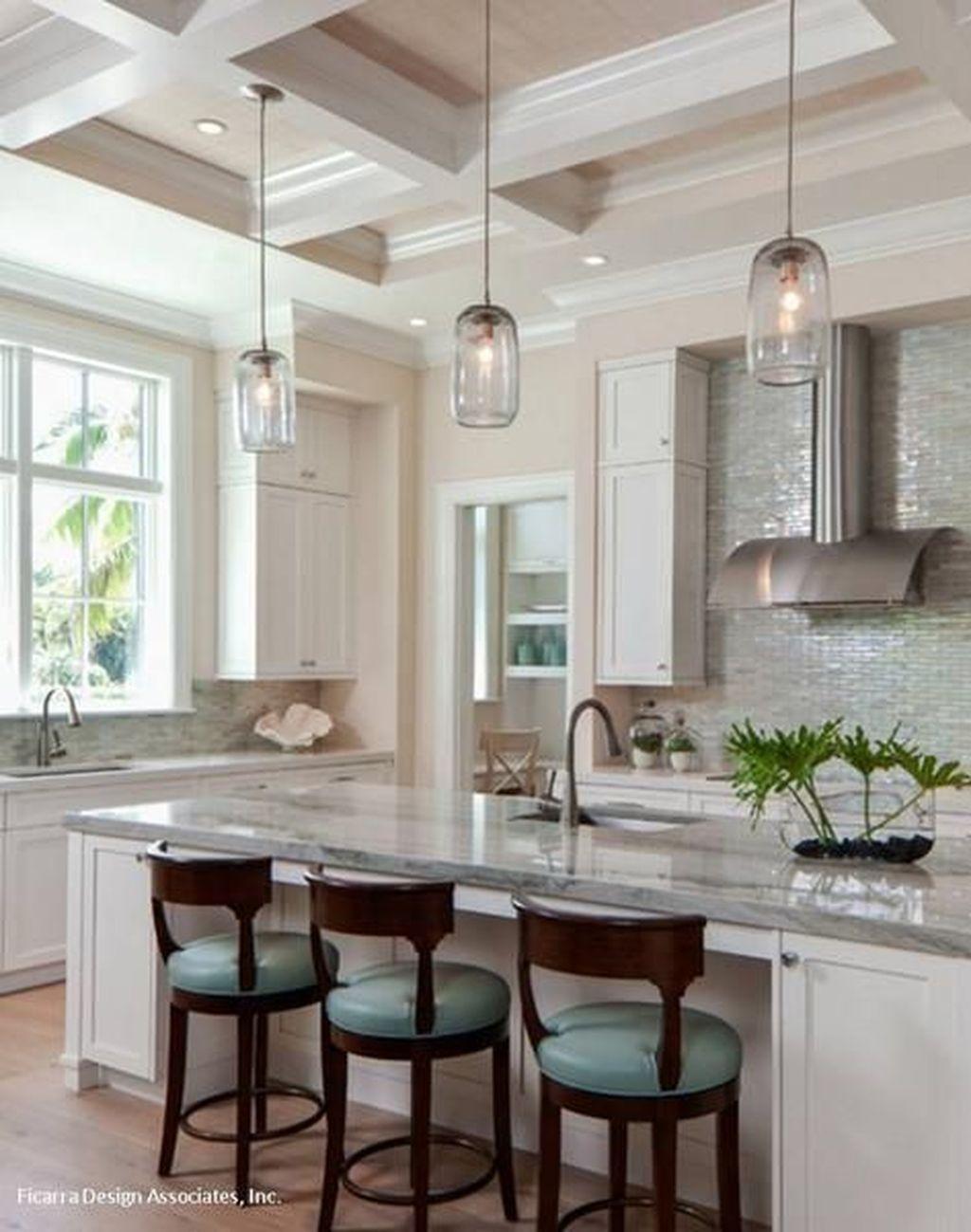 Wonderful Kitchen Lighting Ideas To Make It Look More Beautiful 25