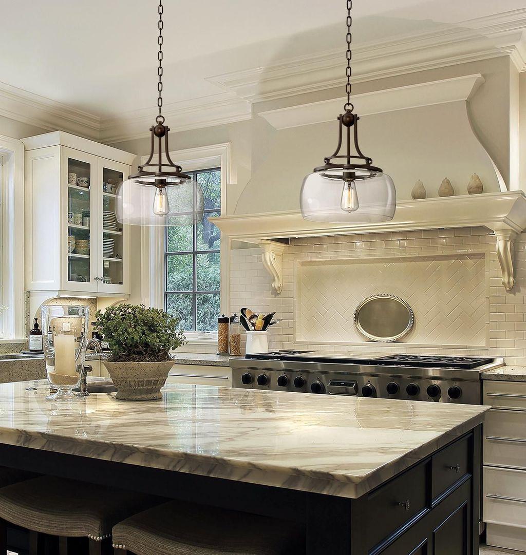 Wonderful Kitchen Lighting Ideas To Make It Look More Beautiful 34