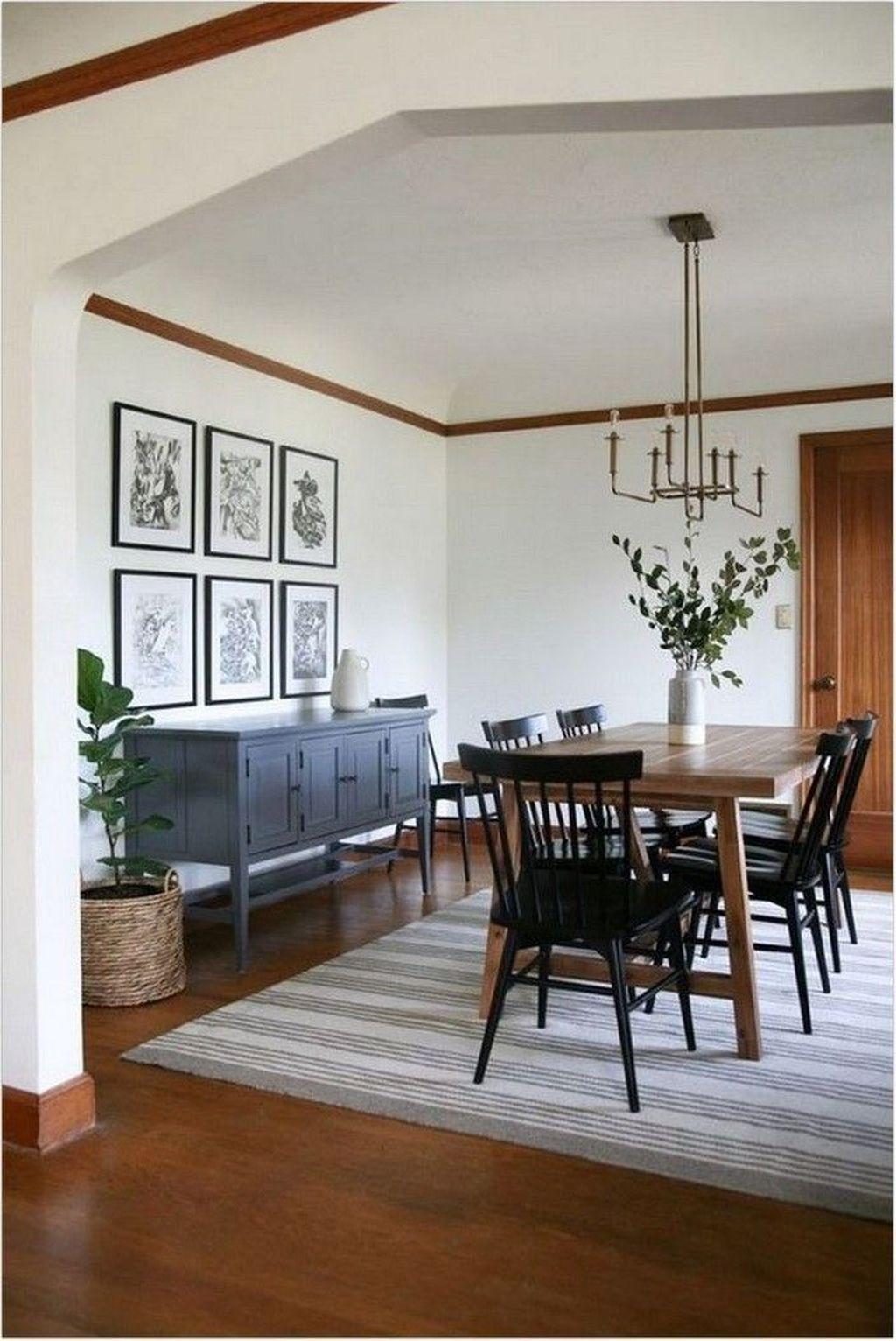 Inspiring Dining Room Buffet Decor Ideas 04