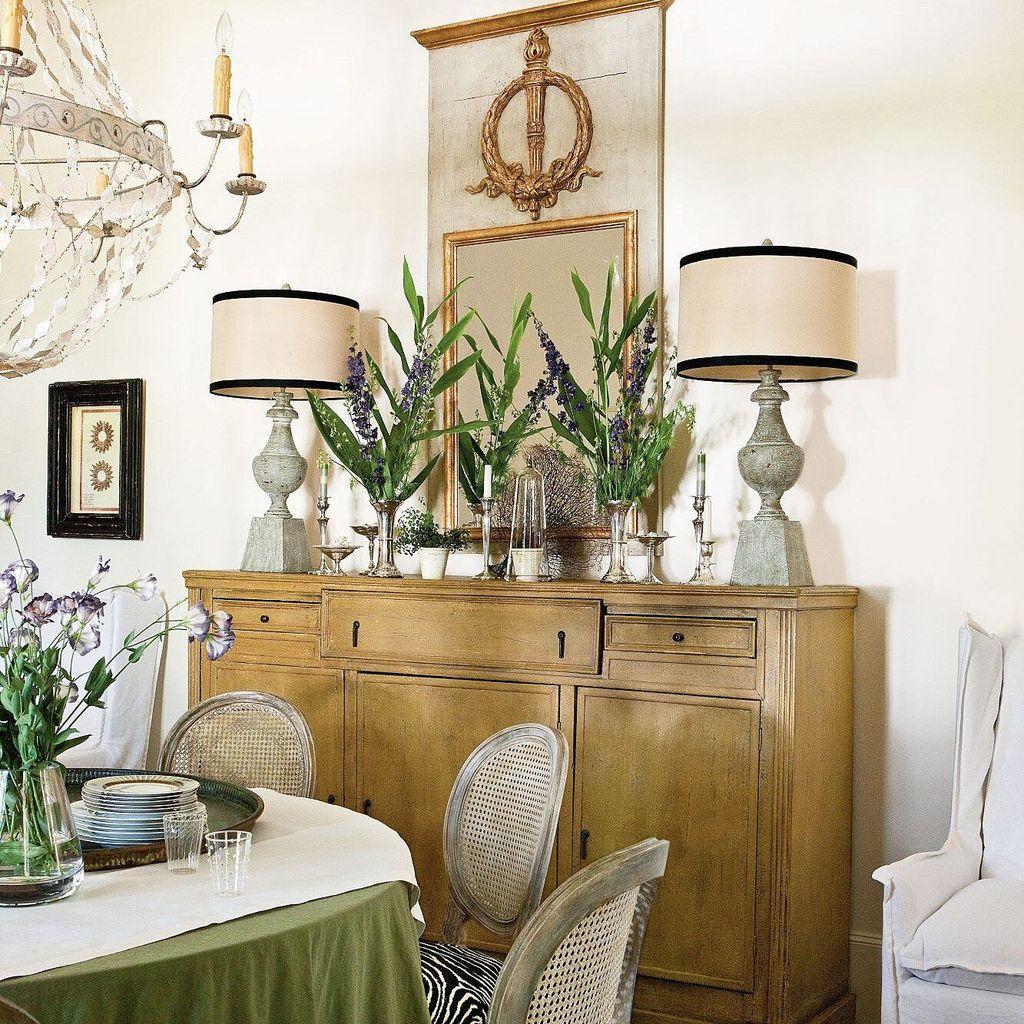 Inspiring Dining Room Buffet Decor Ideas 11