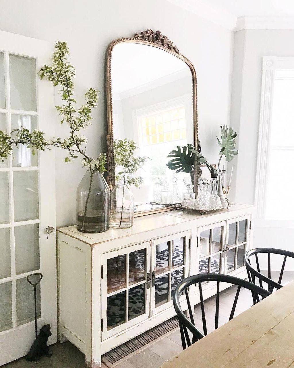 Inspiring Dining Room Buffet Decor Ideas 17