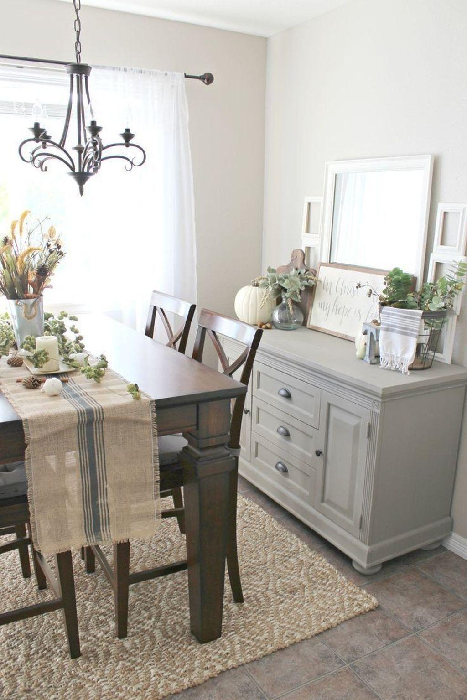 Inspiring Dining Room Buffet Decor Ideas 21