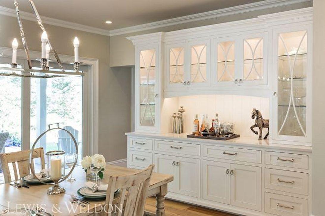 Inspiring Dining Room Buffet Decor Ideas 25