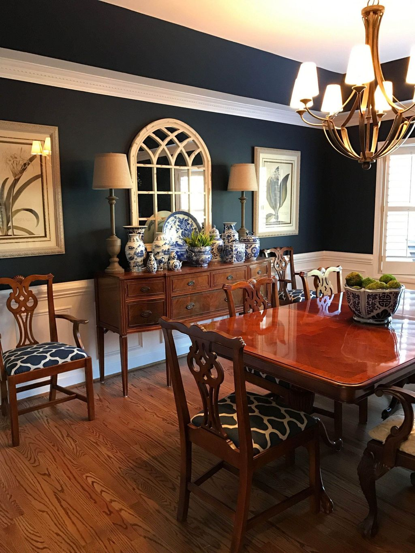 Inspiring Dining Room Buffet Decor Ideas 29