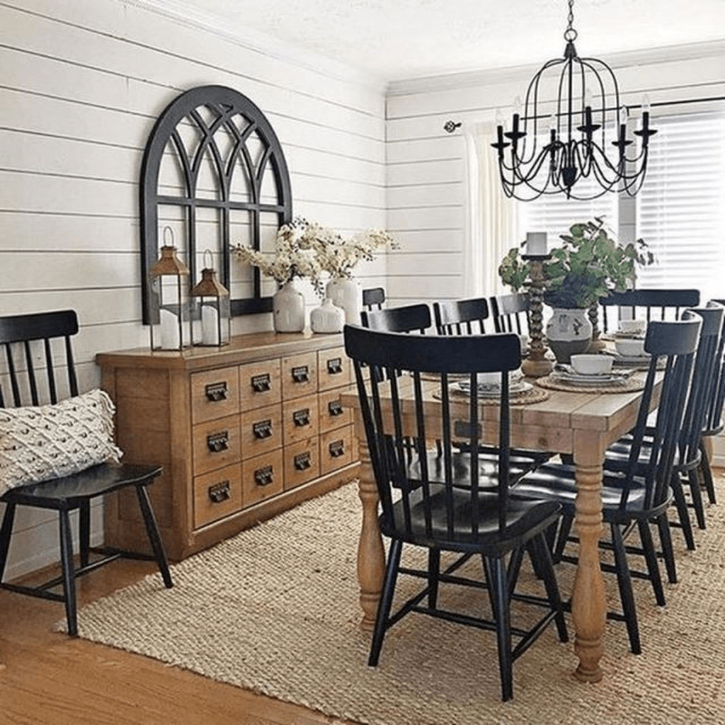 Nice Transitional Dining Room Design Ideas 14
