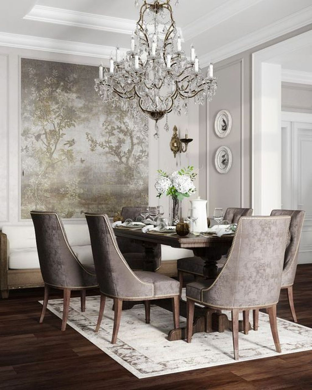 Nice Transitional Dining Room Design Ideas 16