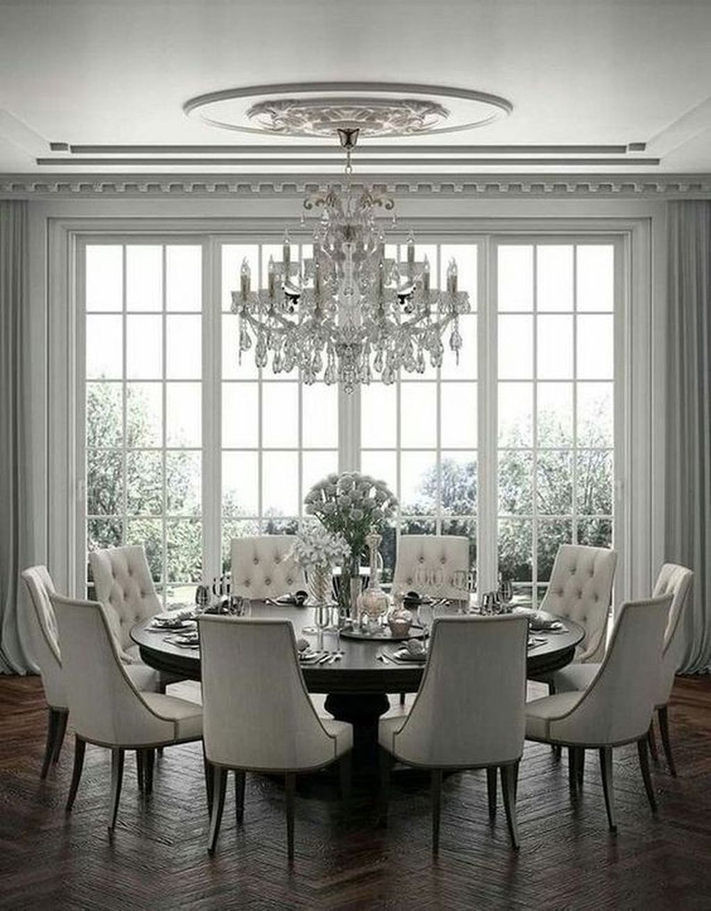 Nice Transitional Dining Room Design Ideas 19