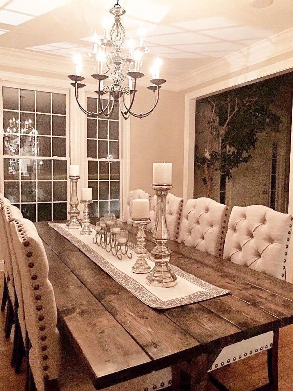 Nice Transitional Dining Room Design Ideas 22
