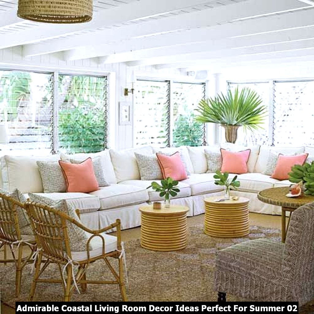 Admirable Coastal Living Room Decor Ideas Perfect For Summer 02