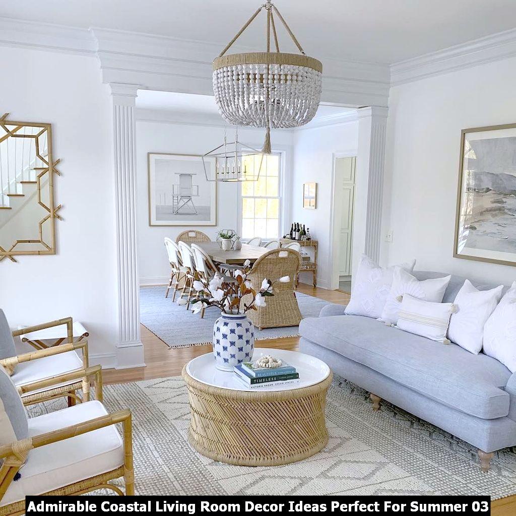 Admirable Coastal Living Room Decor Ideas Perfect For Summer 03