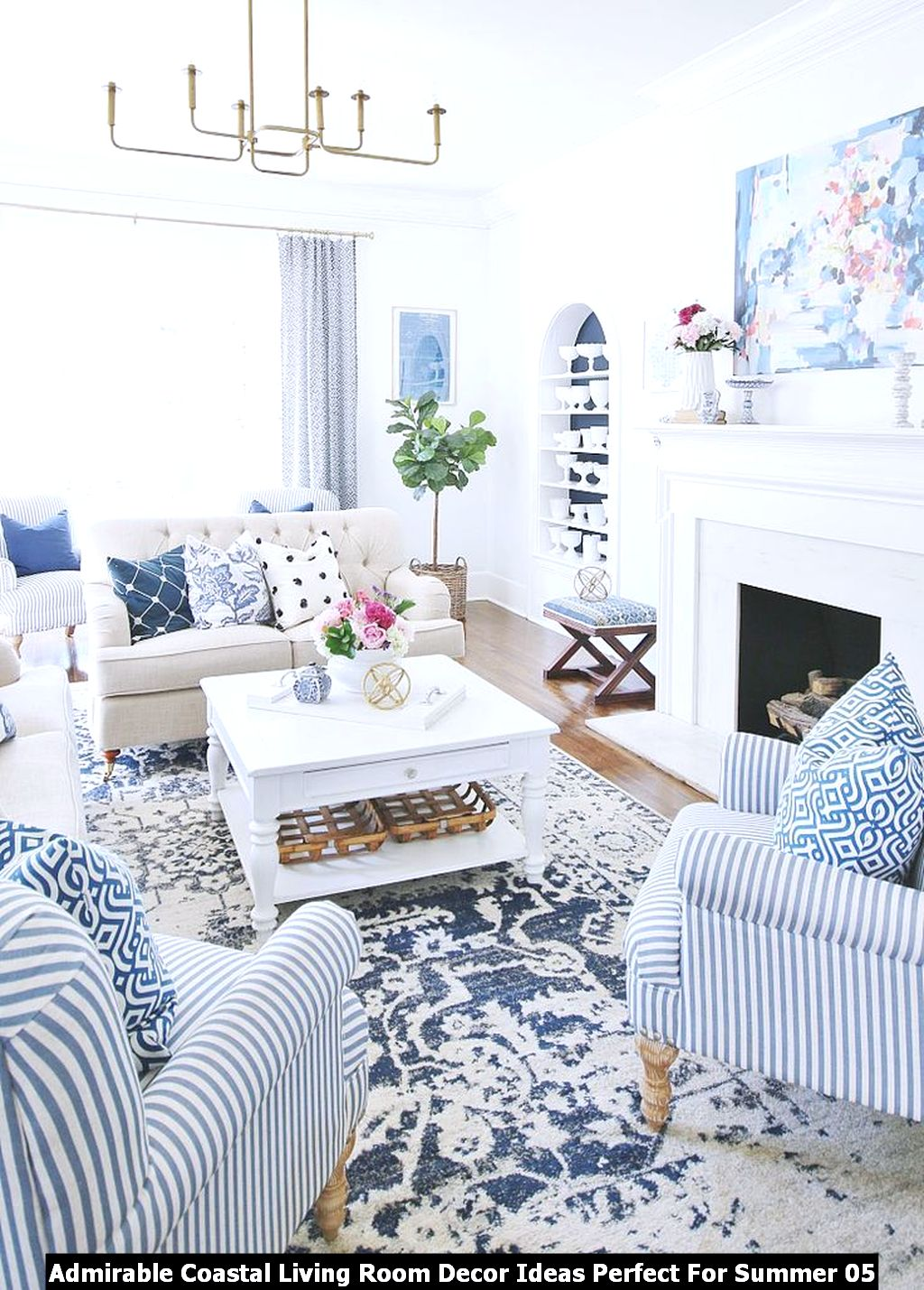 Admirable Coastal Living Room Decor Ideas Perfect For Summer 05