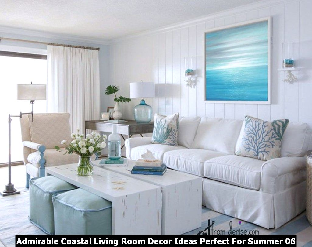 Admirable Coastal Living Room Decor Ideas Perfect For Summer 06