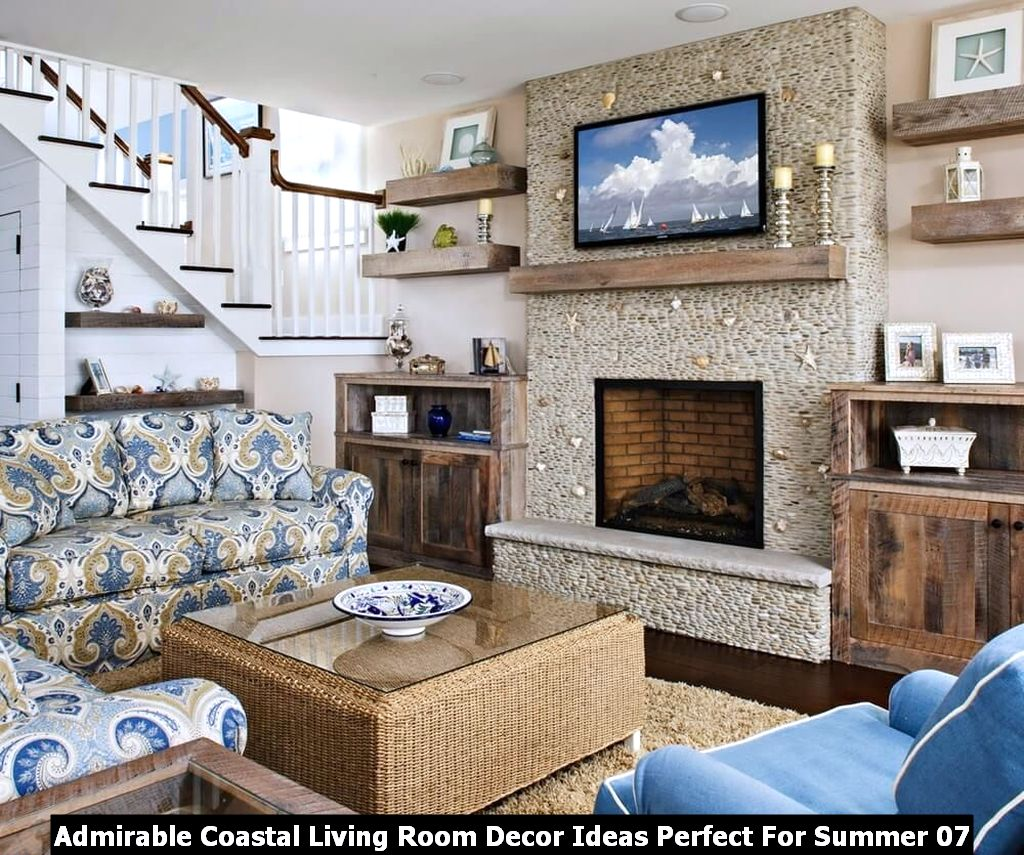 Admirable Coastal Living Room Decor Ideas Perfect For Summer 07
