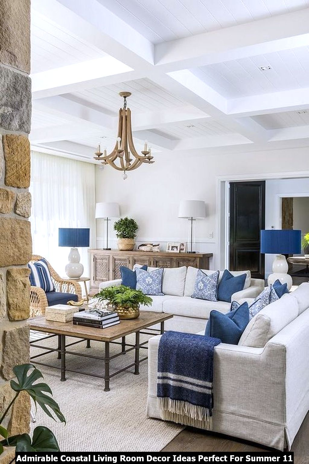 Admirable Coastal Living Room Decor Ideas Perfect For Summer 11