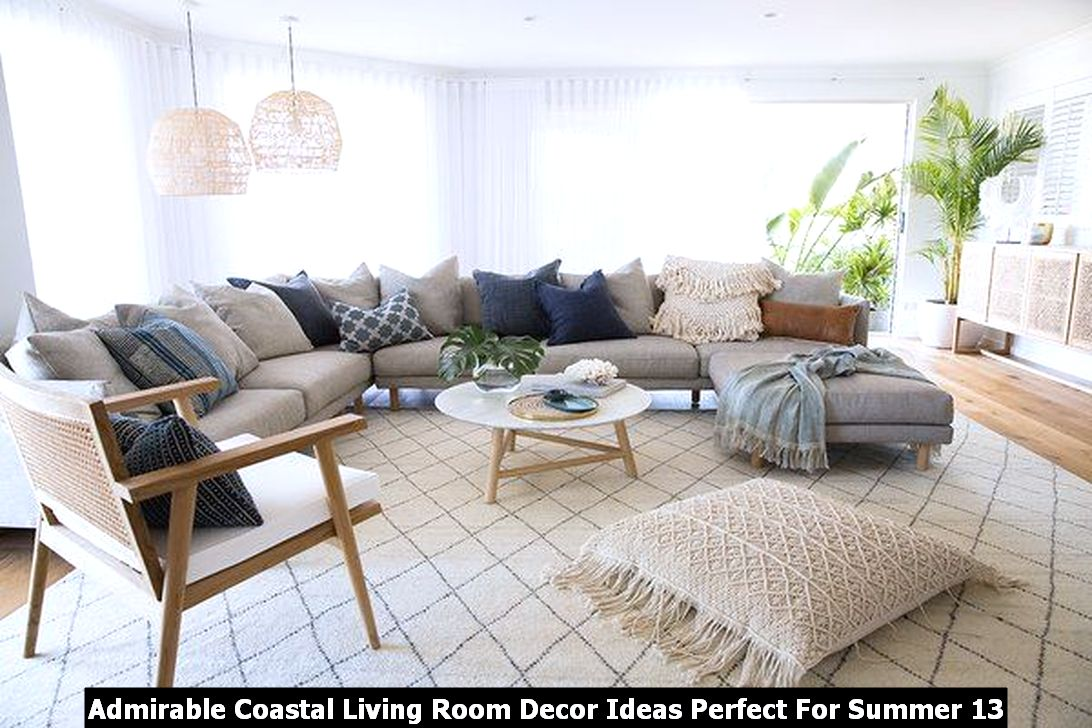Admirable Coastal Living Room Decor Ideas Perfect For Summer 13