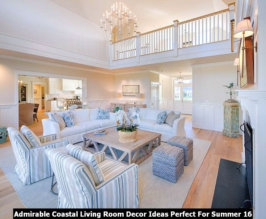 Admirable Coastal Living Room Decor Ideas Perfect For Summer 16