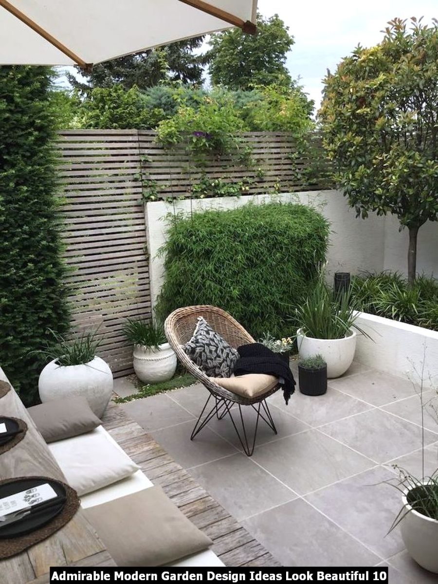 Admirable Modern Garden Design Ideas Look Beautiful 10