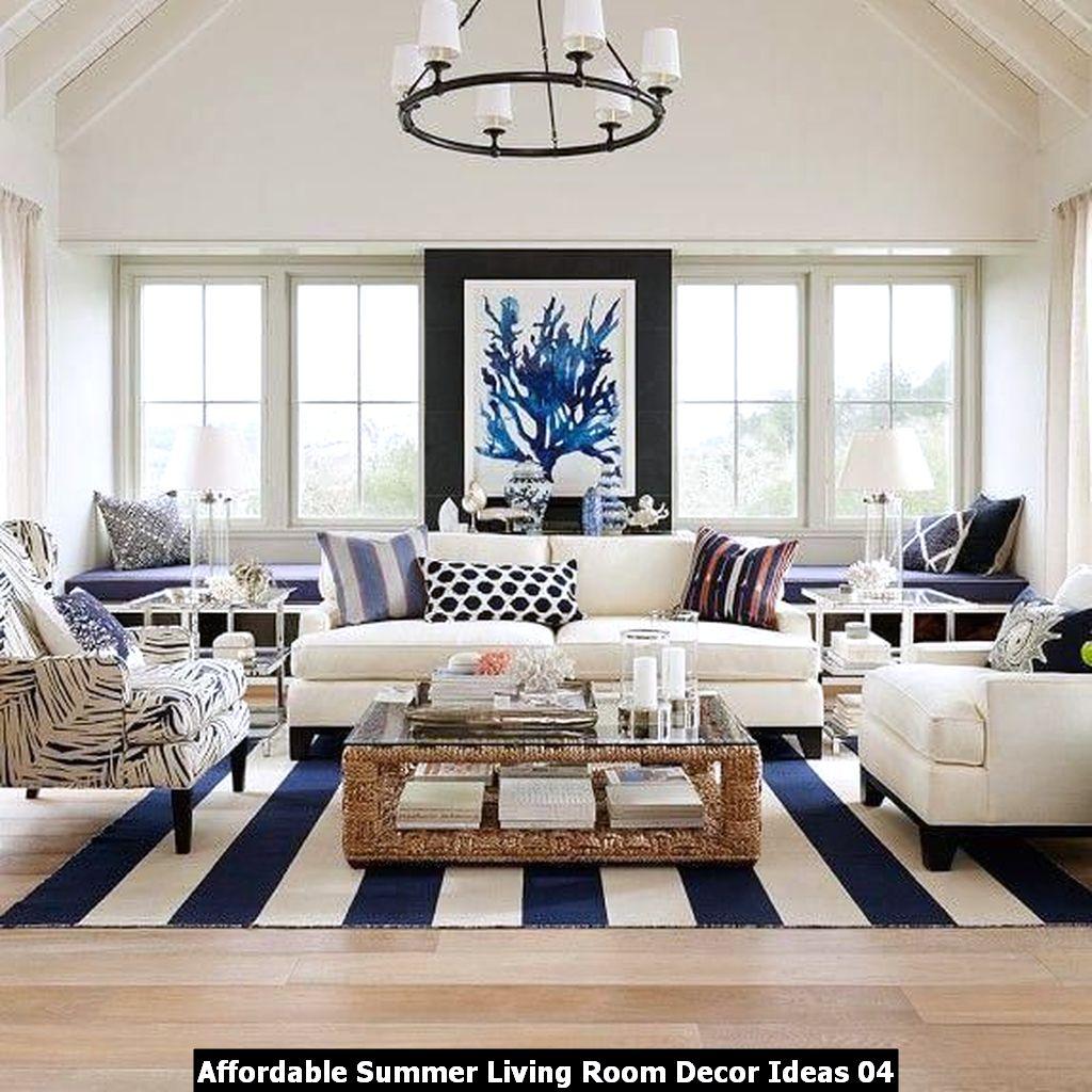 Affordable Summer Living Room Decor Ideas 04