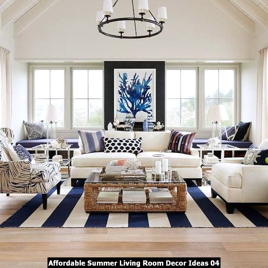 Affordable Summer Living Room Decor Ideas 04