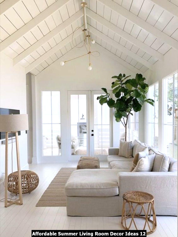 Affordable Summer Living Room Decor Ideas 12