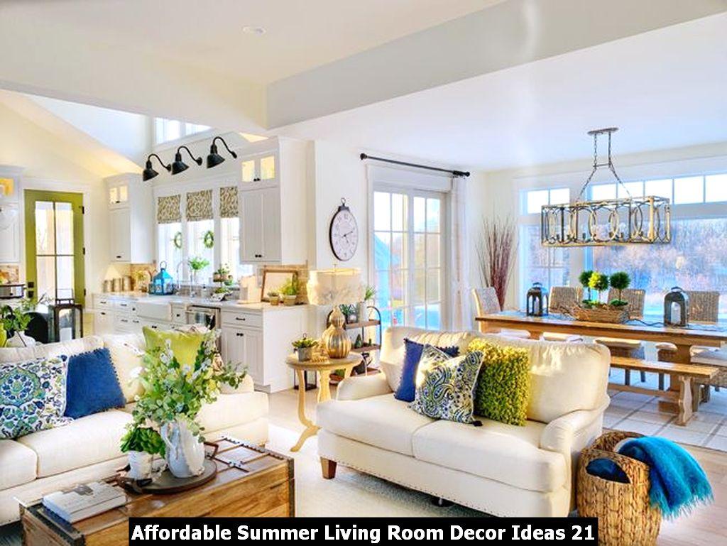 Affordable Summer Living Room Decor Ideas 21