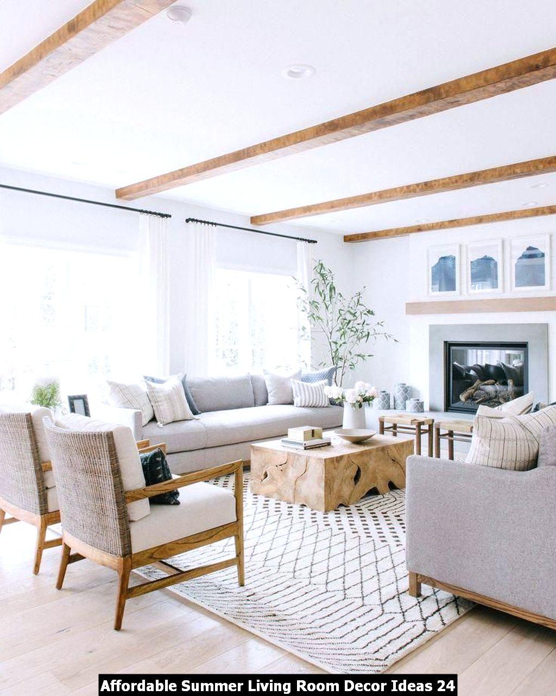 Affordable Summer Living Room Decor Ideas 24