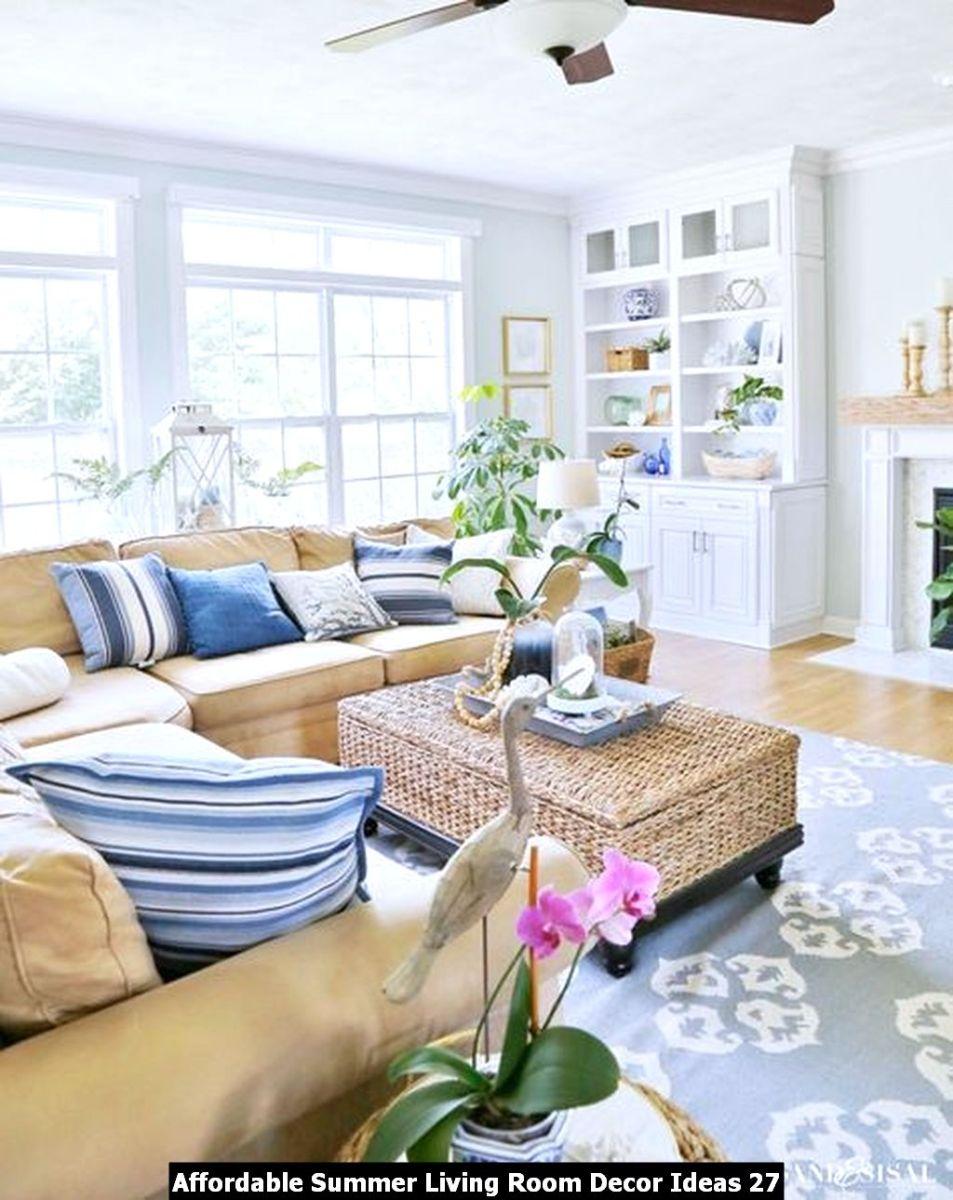Affordable Summer Living Room Decor Ideas 27