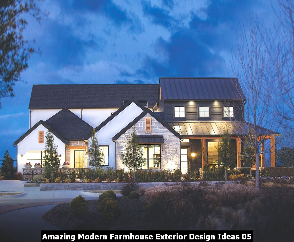 Amazing Modern Farmhouse Exterior Design Ideas 05