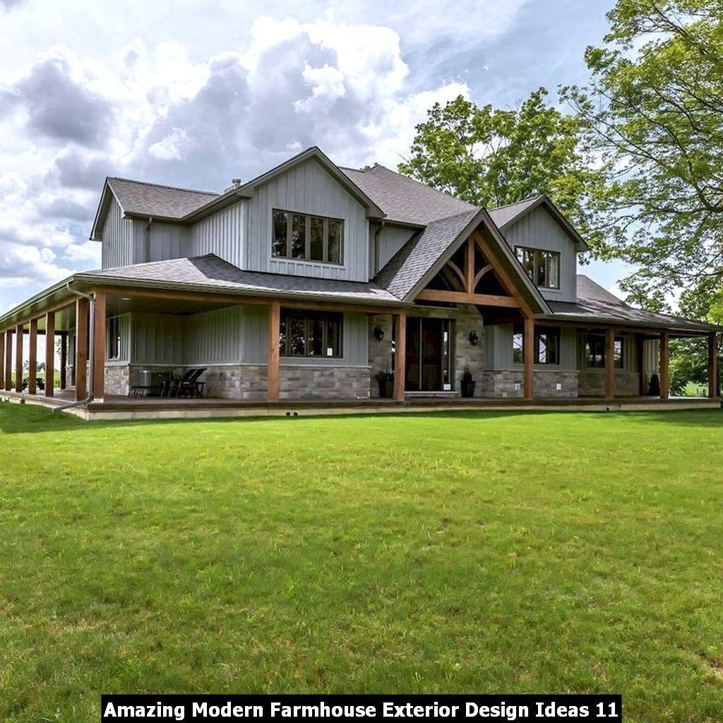 Amazing Modern Farmhouse Exterior Design Ideas 11