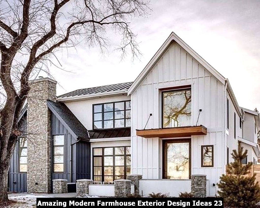 Amazing Modern Farmhouse Exterior Design Ideas 23