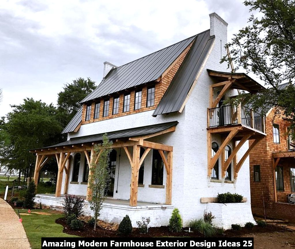 Amazing Modern Farmhouse Exterior Design Ideas 25