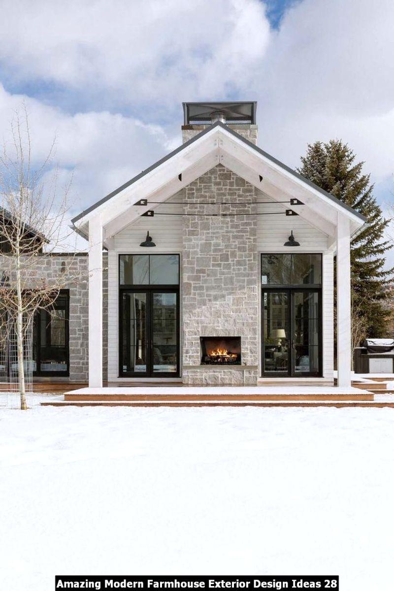 Amazing Modern Farmhouse Exterior Design Ideas 28