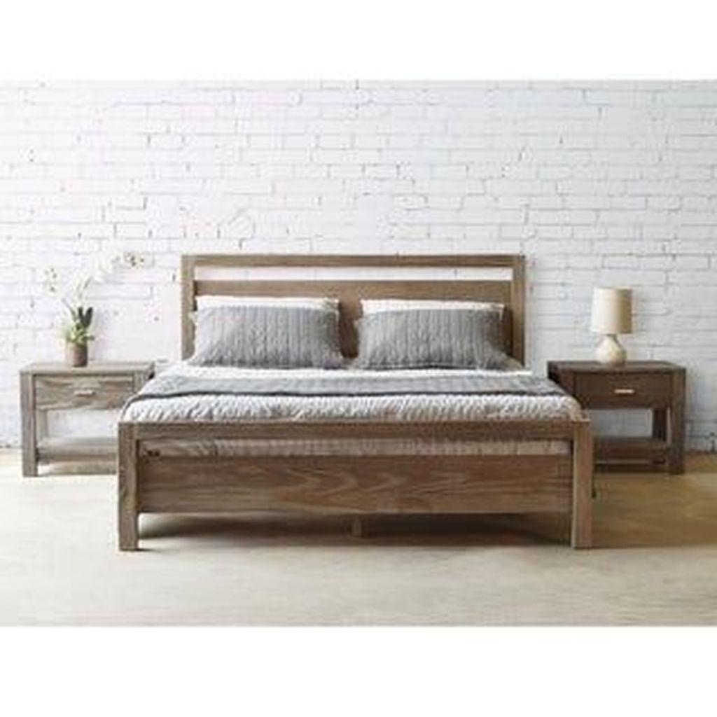 Amazing Vintage Wooden Bed Frame Design Ideas 12