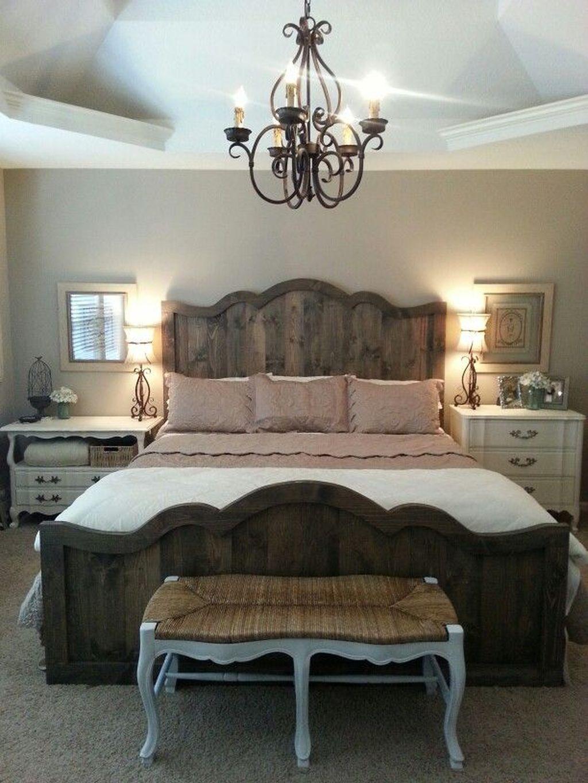 Amazing Vintage Wooden Bed Frame Design Ideas 18
